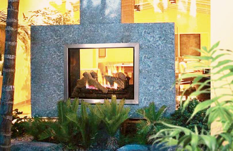 Lennox montebello see through for Montebello fireplace