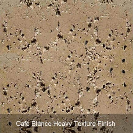cafe blanco heavy texture finish