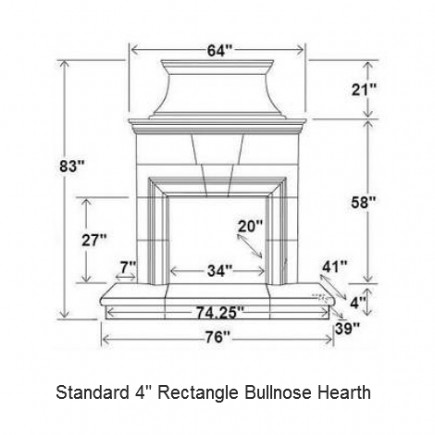 04 rectangle bullnose hearth