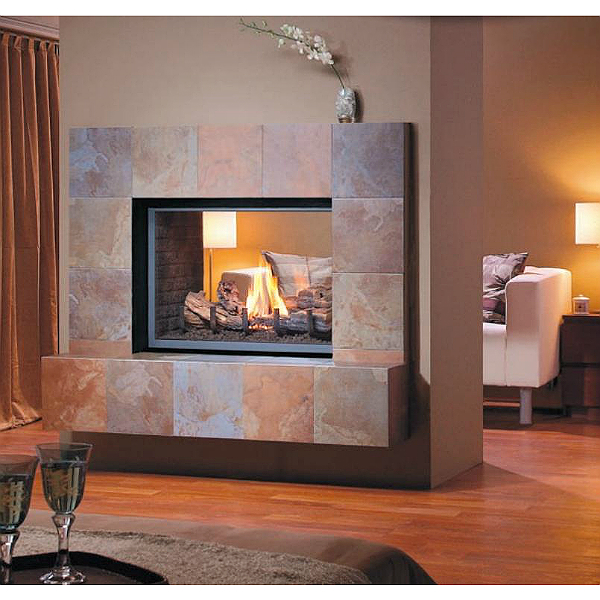 Montigo h series see thru for Through fireplace