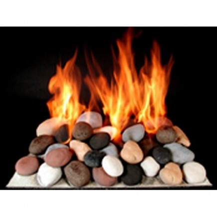 24 ceramic fire stones set 3 the fireplace element