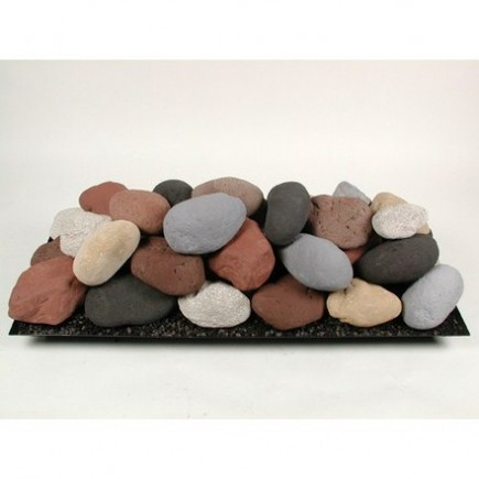 30 ceramic fire stones set 1 the fireplace element