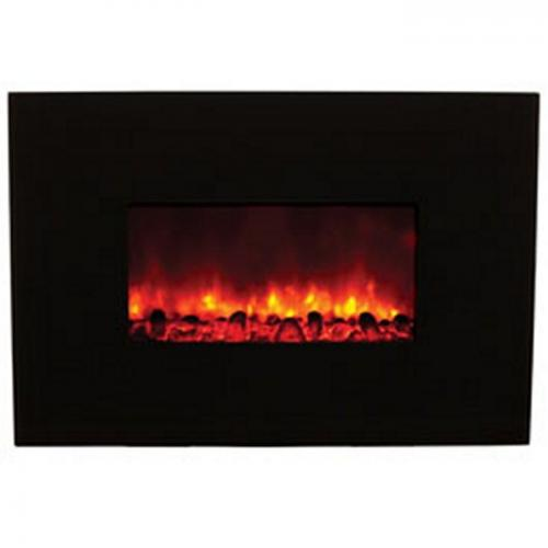 """38"""" Electric Fireplace w/ Black Glass"""