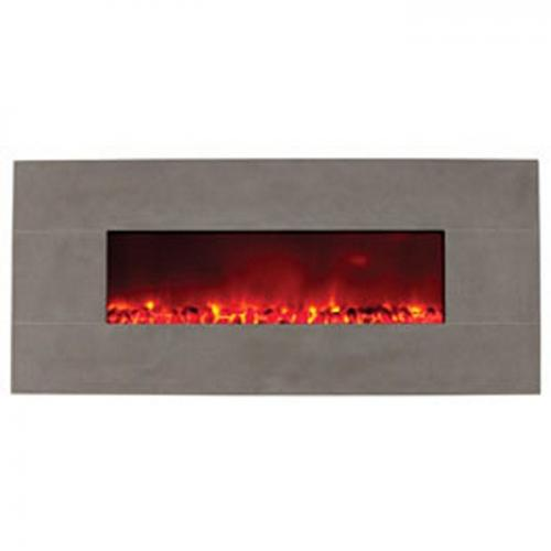 "58"" Electric Fireplace w/Grey Limestone"