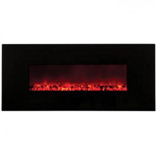 """58"""" Electric Fireplace w/ Black Glass"""
