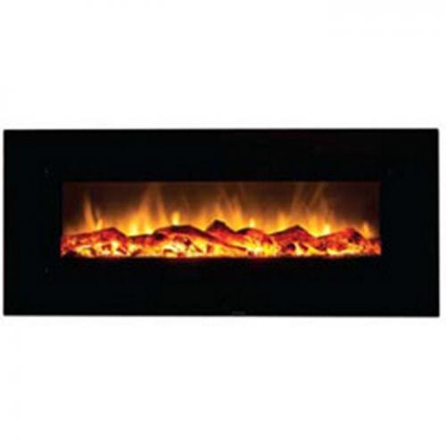 """50"""" Electric Fireplace w/Black Glass"""