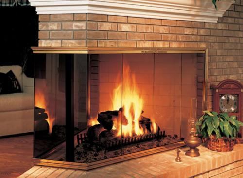 Corner Multi-Sided Fireplaces