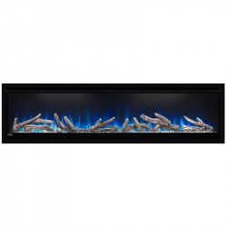 alluravision electric fireplace detail blue
