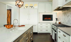 allure 42 electric fireplace lifestyle kitchen