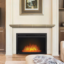 cinema glass 29 fireplace electric