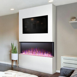 trivista 3 sided electric fireplace room