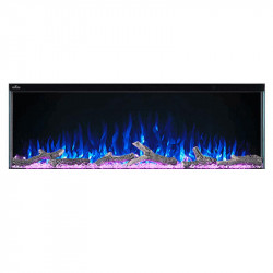 trivista 50 logs flame blue ember bed fuschia