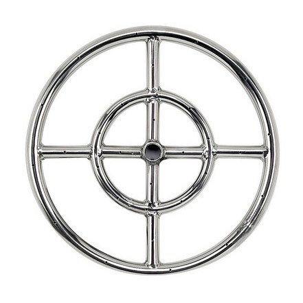 "18"" Double-Ring 304 Stainless Steel Burner"