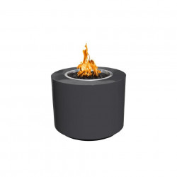 beverly fire pit powder coated gray