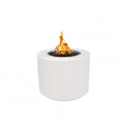 beverly fire pit powder coated white