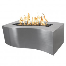 billow fire pit stainless steel