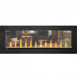 clearion electric fireplace stainless clearion straight crystal flame orange black surround