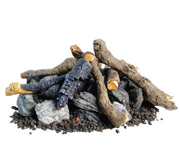 Beachwood Logs with Stones