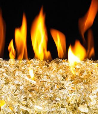 Gold Reflective Fyre Glass