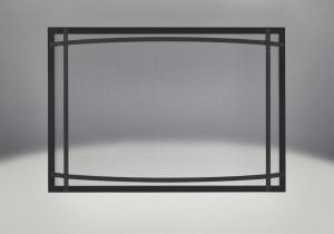 classic resolution front shown in black with black curved accent bars complete with safety barrier