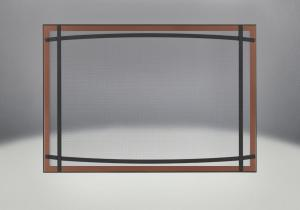 classic resolution front shown with overlay in brushed copper and black curved accent bars complete with safety barrier