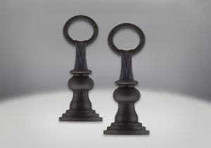 andirons painted black finish traditional