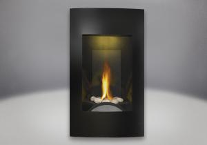 river rock burner assembly contemporary facing kit brushed painted black finish mirro flame porcelain reflective radiant panels night light