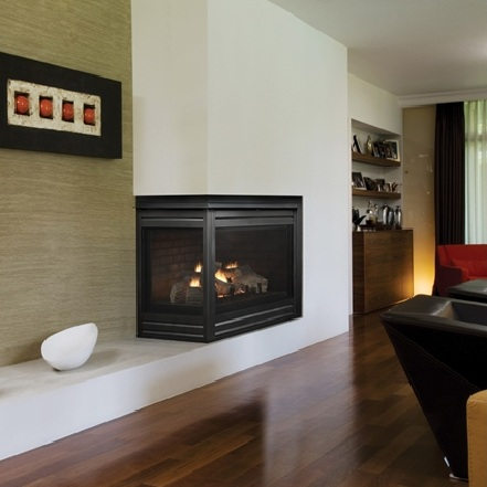 Gallery For Corner Gas Fireplace Dimensions