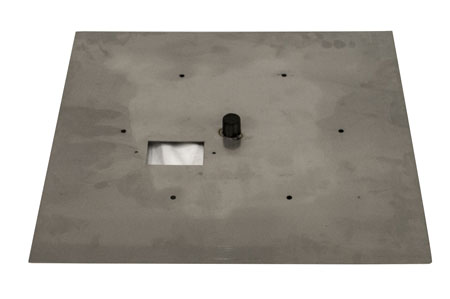 """30"""" SS Square Flat Pan w/ Slotted Vents"""
