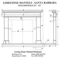 limestone mantel santa clara spec the fireplace element