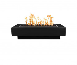 coronado fire pits powder coated black