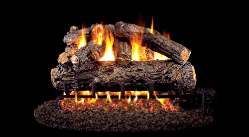 """24"""" Rustic Oak Designer Gas Log"""
