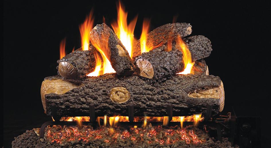 oak gas log san francisco bay area ca the fireplace element
