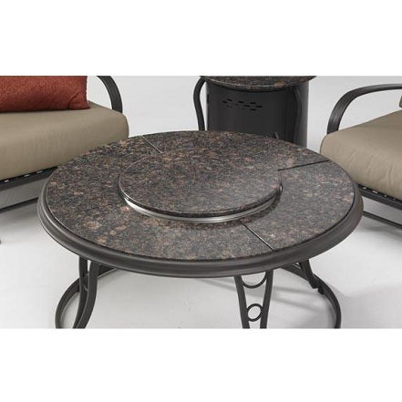 THE FIREPLACE ELEMENT Granite Fire Pit Table