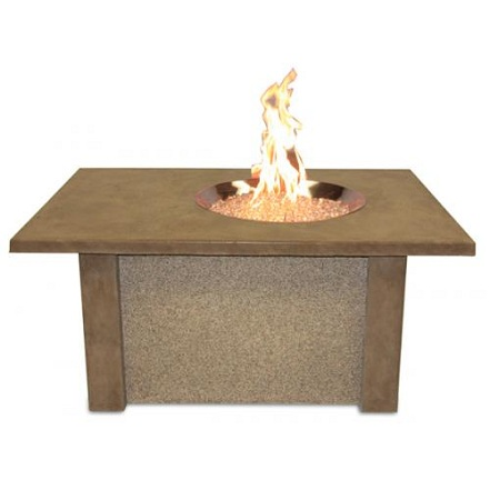 San Juan Fire Pit Table Crystal Fire Round Burner
