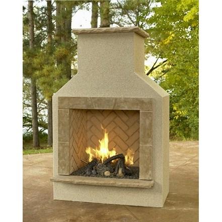 San Juan Fireplace with LP Log Set - Tan