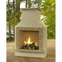 San Juan Fireplace with LP Log Set - Tan