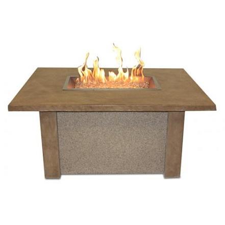 San Juan - Fire Pit Table with Rectangular Burner