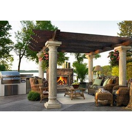 Buy fireplaces accessories online tuscany ii pergola for Where to buy columns for house