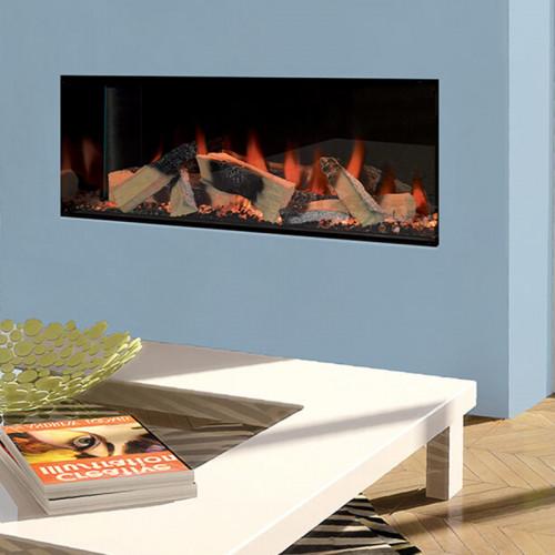 Kiruna Single-Sided Electric Fireplace with Halo Technology