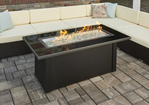 Monte Carlo Linear Gas Fire Pit Table
