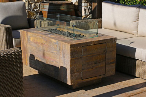 CATALINA WOOD GRAIN FIRE PIT - 120