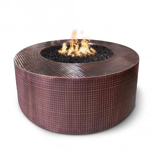 """UNITY FIRE PIT 60"""" - 18"""" TALL - HAMMERED COPPER"""
