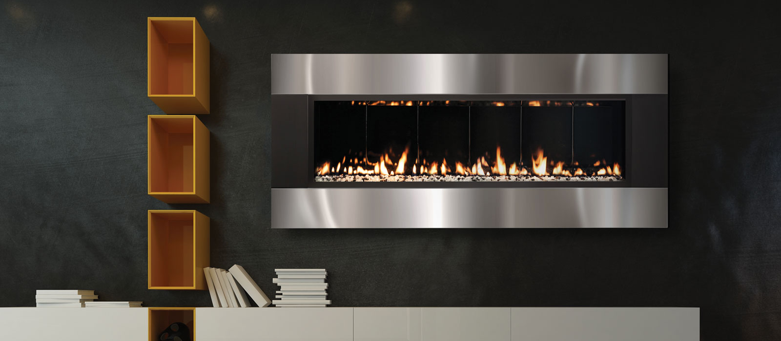 The Fireplace Element 58 Solas Linear Only 8 Inch Deep
