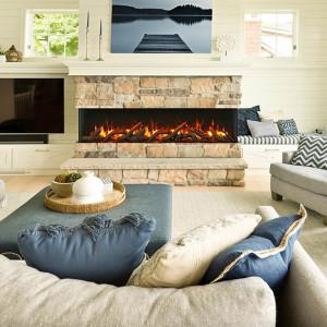 72-TRU-VIEW-SLIM – 3 Sided Electric Fireplace