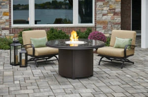 Brown Granite Beacon Chat Height Gas Fire Pit Table