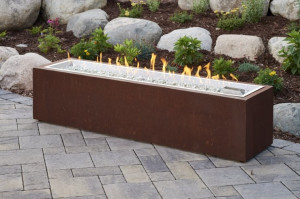 Cortlin Linear Gas Fire Pit Table