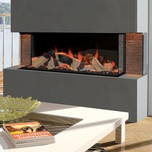 Kiruna 3-Sided Electric Fireplace