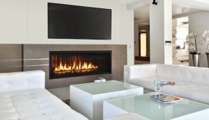Modern Gas Fireplaces Linear In San Francisco Bay Area