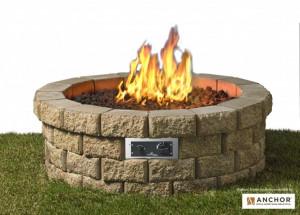 Round 46 Hudson Stone™ Gas Fire Pit Kit